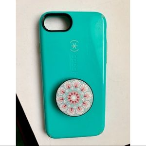 🌸Teal Speck iPhone 6/6s Case w/ popsocket🌸